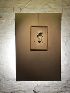 Bruchstücke<br />Holz / Ton / Glas  (2008)<br />36 x 51 x 10
