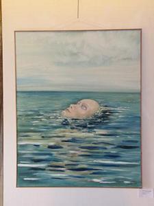 wovon träumt das Meer<br />Öl auf Leinwand  (2010)<br />80 x 100