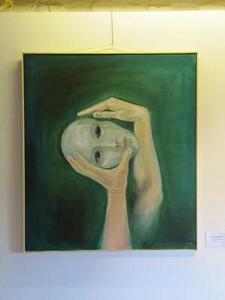 Hände und Maske<br />Öl auf Leinwand  (2009)<br />70 x 80